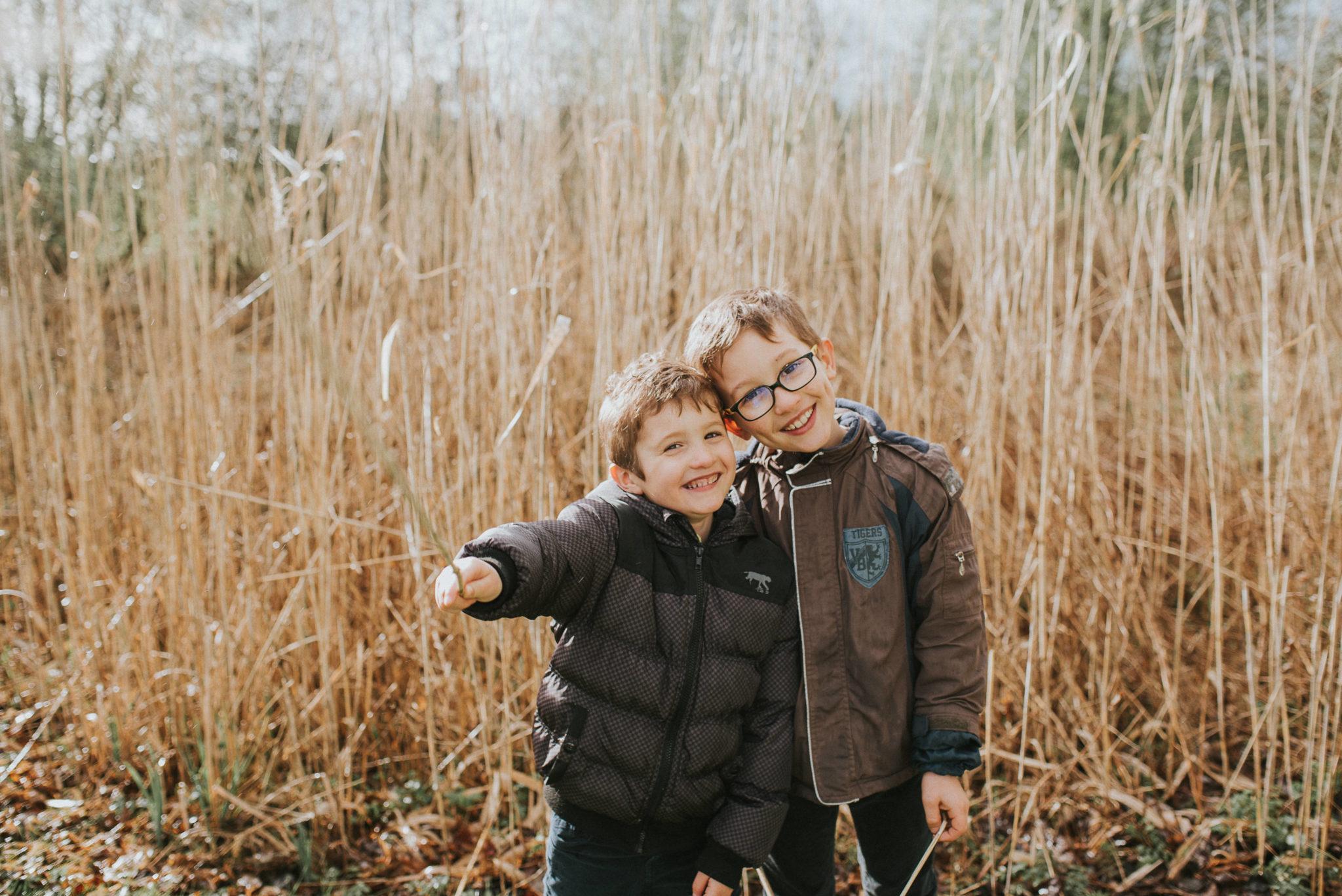 deux frères en séance photo